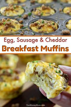 Egg Muffins - These egg muffins with sausage, cheddar and onion are one of my favorite easy breakfast recipes. Also known as muffin tin eggs, they're the perfect easy recipe for a family breakfast, brunch or just breakfast on-the-go #CalorieCountdown #IC #ad. via @funmoneymom