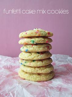 Craft, Bake, Sew, Create: Funfetti Cake Mix Cookies