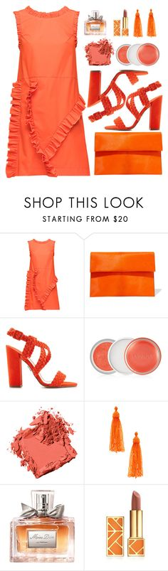 """Orange"" by amchavesj-1 ❤ liked on Polyvore featuring Lattori, Marni, Paul Andrew, Clinique, Bobbi Brown Cosmetics, Kenneth Jay Lane, Christian Dior, Tory Burch and orange"
