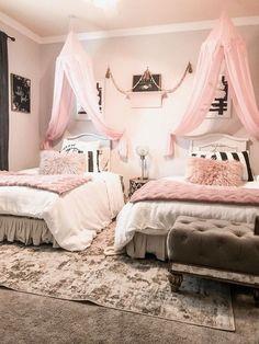 inspiring teen girl bedroom decor ideas 13 – Home Dekor Beautiful Bedroom Designs, Bedroom Design Inspiration, Girl Bedroom Designs, Beautiful Bedrooms, Bedroom Ideas, Design Bedroom, Design Ideas, Twin Girl Bedrooms, Farm Bedroom