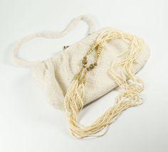 Zaad kralen halsketting Vintage Victoriaanse door CherryOrchardAttic