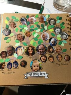 Family tree for baby's first year scrapbook - Tini Ahoi - Dekoration Scrapbook Bebe, Baby Girl Scrapbook, Baby Scrapbook Pages, Pregnancy Scrapbook, Pregnancy Journal, Baby Journal, Baby Memories, School Memories, Family Tree For Kids