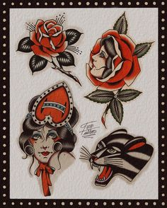 Traditional Tattoo Sketches, Traditional Tattoo Old School, Traditional Tattoo Design, Traditional Tattoos, Traditional Flash, American Traditional, Old School Tattoo Designs, Tattoo Drawings, Tattoo Art