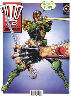 CLASSIC COVER: Judge Dredd by Cliff Robinson for 2000 AD Prog 745 (24th August, 1991)