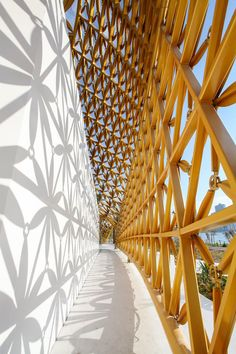 Pattern in environmental design - architecture: Butterfly Pavilion On Noor Island - Picture gallery Pavilion Architecture, Organic Architecture, Chinese Architecture, Futuristic Architecture, Contemporary Architecture, Art And Architecture, Architecture Details, Residential Architecture, Parametric Architecture