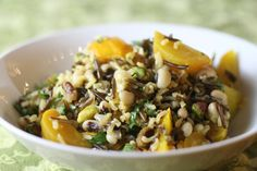 Wild Rice Salad with Golden Beets, Pistachios and Black-Eyed Peas