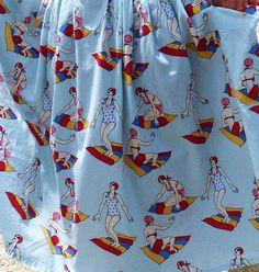 Bathing belles skirt close up