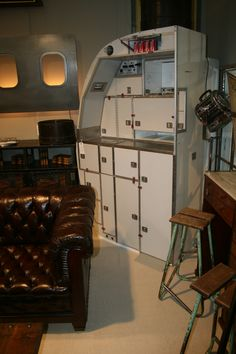 Aircraft galley kitchen. Would make a real feature in a kitchen or could be used as a centrepiece in an office or showroom. Could also be used as a bar. There are plenty of options and loads of storage space, so the ideas are endless!