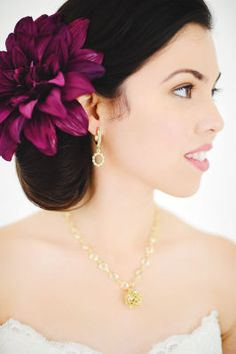 alfabridal,com: Purple Luxe wedding Hair Piece, Gorgeous!