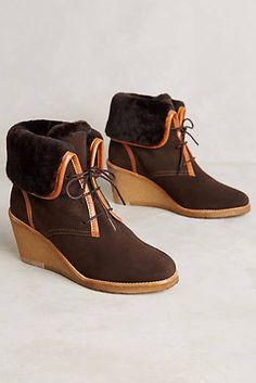 ca12350f63 Aigle Cabras Booties Wedge Heel Boots