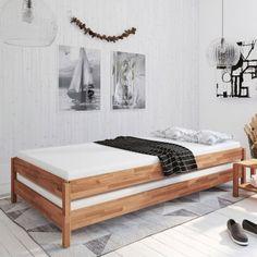 Sylt Stapelbetten 2x 90x200 Kiefer Massiv Weiss Schlafzimmer