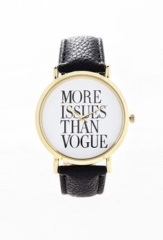 More Issues Than Vogue watch
