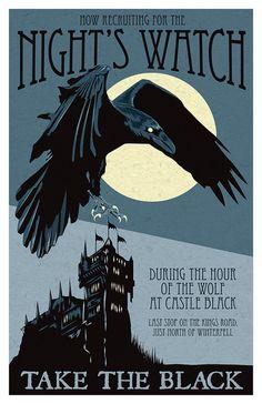 Night Watch Recruitment Poster Game of Thrones by KnerdKraft
