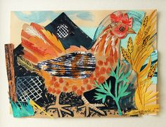 _ Born in Mark Hearld studied illustration at Glasgow School of Art and MA in Natural History Illustration at the Royal College of Art. Cut Paper Illustration, Collage Artists, Collages, Nature Sketch, Glasgow School Of Art, Up Book, Royal College Of Art, Tole Painting, Art Club