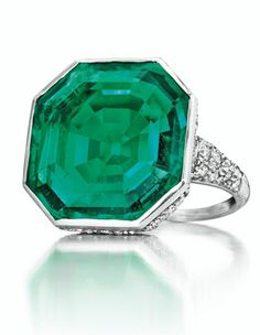 A Emerald and Diamond Ring by Cartier