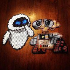 Wall-E and EVE hama perler beads by honey.beads