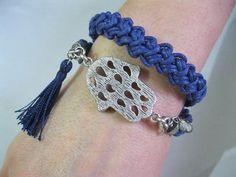wrap bracelet fall wrap bracelet deep blue by INDAJEWELLERY