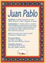 Origen y significado de Juan Pablo