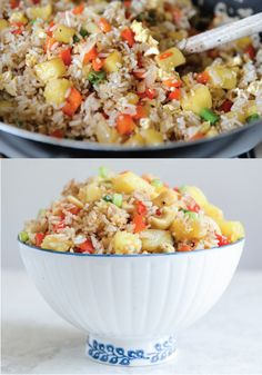 Pineapple Cashew Fried Rice – the combination of sweet pineapple and savory rice makes this dinner an easy one for the family to fall in love with!