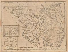 """Map of the States of Maryland And Delaware.  Thomas & Andrews, Denison, J. 1796.  """"By J. Denison A. Doolittle sculp."""" Inset: The Western Part of Maryland. Sharp impression. Shows """"Washington City"""". (v. early on a map). Includes pp.565-602 from Jedidiah Morse's The American Universal Geography... Third Edition from whence the map is taken, section on Delaware, Virginia, Maryland."""
