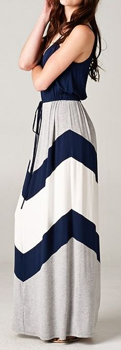 Chevron zig zag maxi dress //