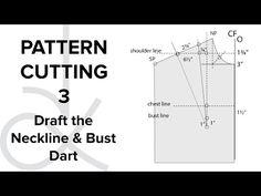 Pattern Cutting - Flat Pattern Drafting, the Bodice Block part 1 - YouTube