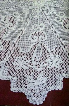 Home Decor Crochet Patterns Part 14 Crochet Flower Tutorial, Crochet Doily Patterns, Crochet Diagram, Baby Knitting Patterns, Crochet Motif, Crochet Doilies, Crochet Lace, Crochet Cross, Thread Crochet