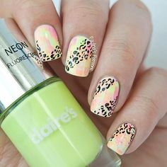 For today I have a wonderful collection of 18 fabulous animal print nail art designs that will take your breath away. I have chosen this type of nail art, Uñas Color Coral, Cute Nails, Pretty Nails, Leopard Print Nails, Diva Nails, Types Of Nails, Fabulous Nails, Cute Nail Designs, Beautiful Nail Art