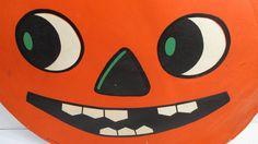 Vintage Halloween Jack O Lantern Die Cut by UrbanRenewalDesigns, $18.00