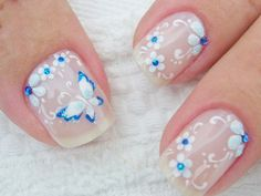 butterfly french Nail Designs   ... heart french manicure lace french manicure nails star french manicure
