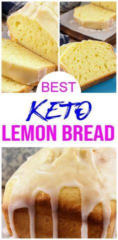 Keto Foods, Keto Snacks, Keto Meal, Lemon Bread, Lemon Loaf, Banana Bread, Low Carb Desserts, Low Carb Recipes, Dessert Recipes