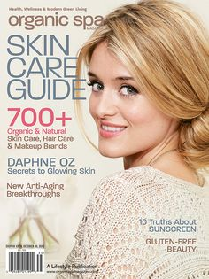 Organic Spa Magazine: July 2013 Annual Skin Care Guide Issue. Read the entire issue online | Beautiful best-selling author and co-host of The Chew, @Daphne Oz graces our cover! Photograph by Ellen Silverman | #Digital #Magazine | #OrganicSpaMagazine