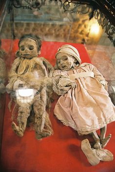 Mint Museum in Potosi, Bolivia, two mummified Spanish children from the 1800s.