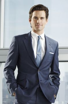 Men should always wear suits although I'm sure most won't look as good as Matt Bomer does.