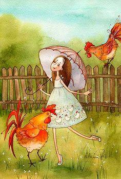 петухи и курицы