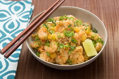 Shrimp+&+Pineapple+Fried+Rice+with+Toasted+Cashews+&+Sambal+Oelek.+Visit+https://www.blueapron.com/+to+receive+the+ingredients.