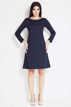 3473b1ee4bd Navy Blue Awama Dresses Budget Fashion