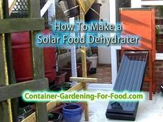 How to Make a solar food dehydrator