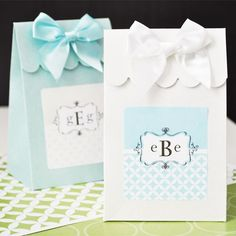 Personalized Monogram Candy Bags by Beau-coup