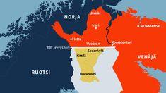 Ylä-Lapin kartta.