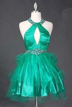 #1806 Sweet 16 Halter Short Pageant Homecoming « Dress Adds Everyday