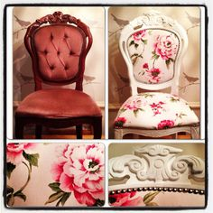 Restored chair. Before and After