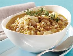 White Bean and Arborio Rice Soup