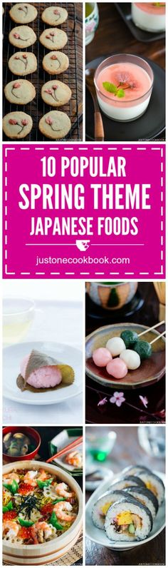 Spring Themed Japanese Food