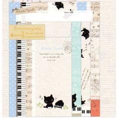 San-X Kutusita Nyanko Quad Letter Set: Piano & Music