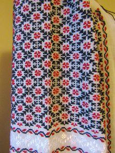 Hand stitched Romanian peasant blouse, ethnic top size L - XL / the Champion pattern - black and red Palestinian Embroidery, Peasant Blouse, Petra, Hand Stitching, Ethnic, Cross Stitch, Traditional, Crochet, Pattern