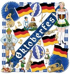Awesome! Instant Oktoberfest theme party decorations!