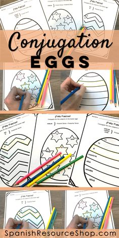 Have fun this Easter with conjugation eggs!  Students conjugate for the subject pronouns in the eggs... completely editable for the verbs and tenses you need them to practice!