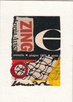 """Cinzia Farina - Mail art - """"mensile giugno 1976"""""""