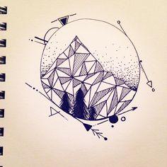 geometric arrow tattoo - Поиск в Google